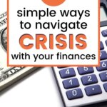 Read this post to get money management tips to help you in a crisis. The current outbreak and pandemic doesn't mean you have to suffer a personal financial crisis. Use the time to improve your budget and enjoy debt free living. | Money Bliss #moneymanagement #tips #moneybliss