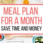 Learn how to meal plan on a budget. Perfect for monthly meal planning, but will work for weekly menu planning too! Perfect for families or for two or for one. Healthy eating on a budget doesn't have to be costly with grocery lists. Get your free meal planning printable and worksheets to make your personal menu plan!