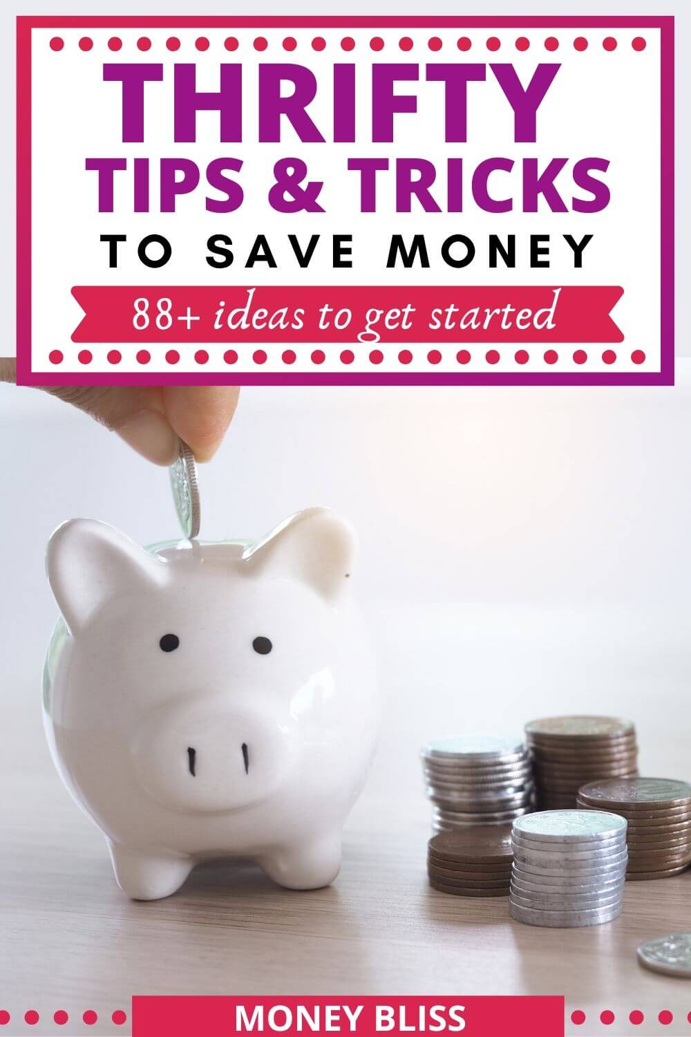 Here are the best thrifty tips and tricks you need in your life! This helps you improve your frugal lifestyle and ways to save money. Thrifty living is perfect to challenge your frugal living extreme. Plenty of money saving ideas and hacks!