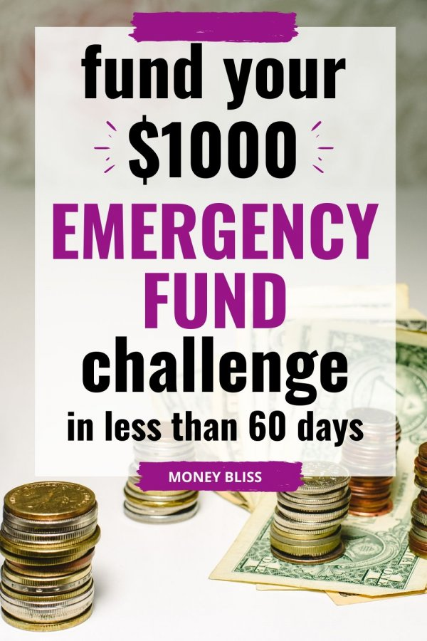 This is the savings plan you need today. Get your emergency fund in place. Start to save money with this emergency fund challenge. In less than 60 days, you can save money and stop the living paycheck to paycheck cycle. Download your free tracker printable.