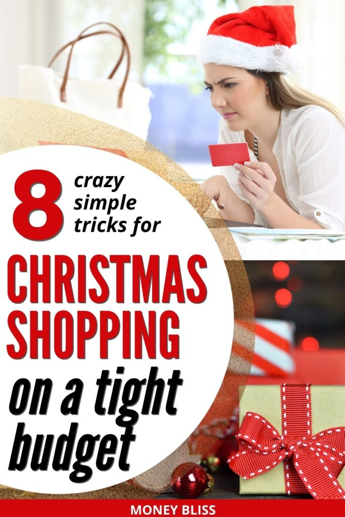 Christmas shopping on a budget. Learn these crazy simple money saving tips for Christmas gifts. When you are living paycheck to paycheck, you need have Christmas on a tight budget. Stay debt free and still create magical presents, meals, decoration, and DIY crafts.