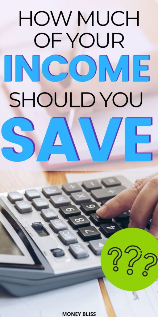 Do you know how much to save monthly? This blog post by Money Bliss will tell you using your savings percentage and income. From each paycheck, you will save money. Use this plan and challenge yourself to the best life every. Financial freedom is closer because of your money management tricks! Click this post for the best budgeting finances tips! | Money Bliss