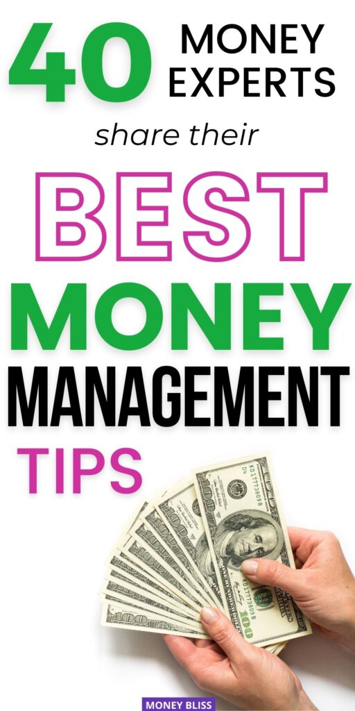 Need expert opinions on money management tips? I'm so glad I found this post from Money Bliss and other finance experts. Find simple ideas that make learning fun! You want this personal finance advice as a beginner and is a great reminder as you continue your journey to financial freedom and saving more money. | Money Bliss