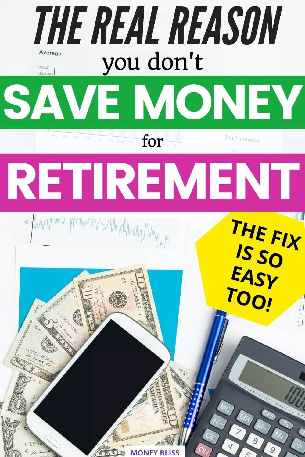 This is a must read from Money Bliss. Learn the real reason why you don't save for retirement and simple way to overcome it. Things have been complicated with the 4 percent rule, then the 3 percent rule and now the 5% rule of retirement. Find out how much do I need to retire? Plus get tips on the besy ways for saving money for retirement. Click here to learn exactly how much money to save for retirement.