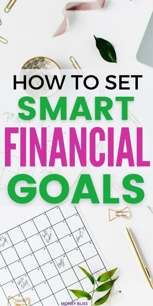 This post will teach you exactly how to set smart financial goals. You need to know the 5 smart goals and find smart financial goal examples. Download the PDF on setting financial goals worksheet. You don't want to miss these great way to improve your money management skills.