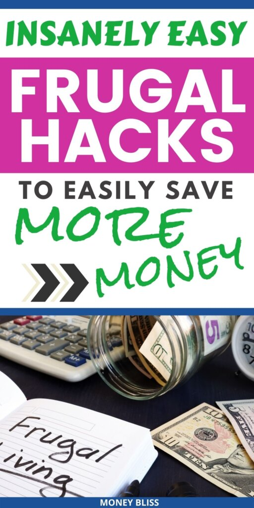 Try these easy frugal life hacks to save money. This is how to be frugal. I learned to change my spending habits and lifestyle. Now, I am debt free and starting to build wealth. Click here to learn how.