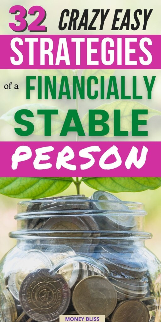 A picture showing money of what it means to be a financially stable person. The exact habits you need to learn how to be financially stable. Financially stability is when you are in control of your finances. Read all the easy ways!