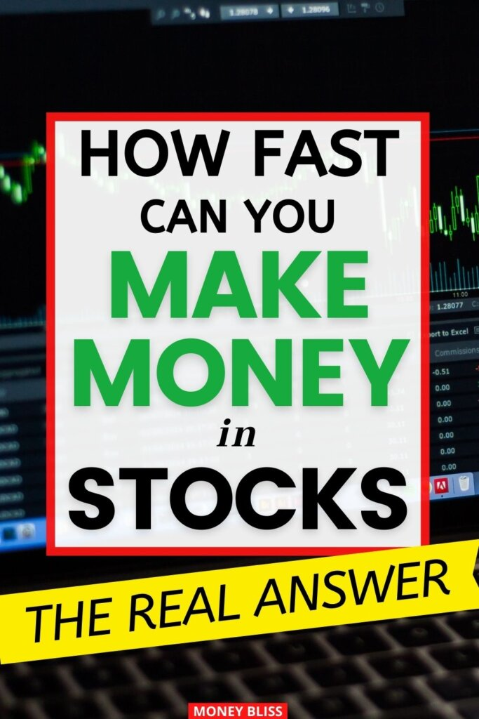 How fast can you make money in stocks? Here is the real answer from a day trader and long term investor. Increase your net worth and improve your financial freedom with the market. Learn to become a day trader or swing trader.
