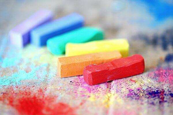 Picture of chalk for the 30 day creativity challenge.
