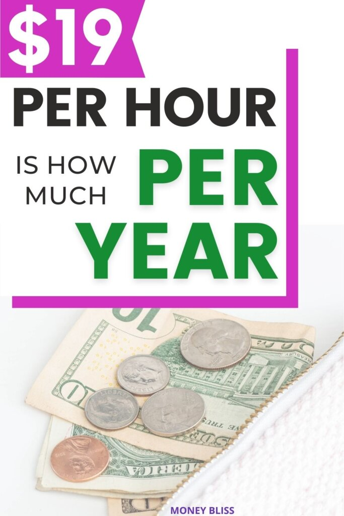 This is important money management skills to know. Learn what 19 an hour is how much a year, month, and day. Plus tips on how to live on it!