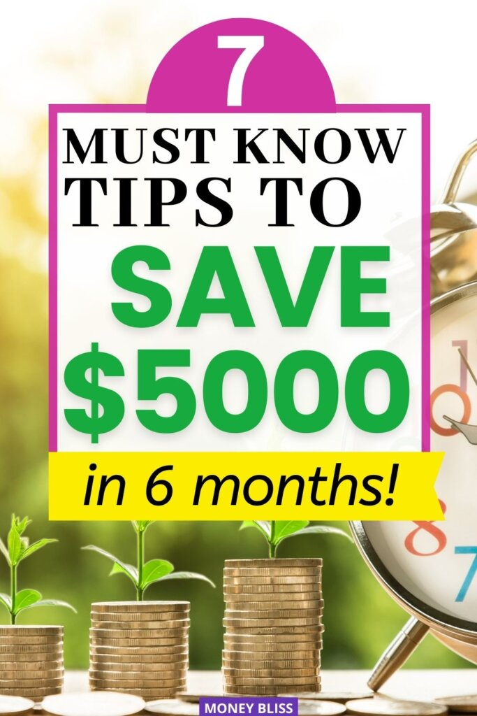 Save 5000 in 6 months or more by following these easy, useful tips. You'll learn how to get started investing your savings, get a head start on saving for retirement, and get suggestions for what you can do to save even more money.